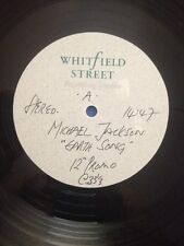 """Michael Jackson 12"""" ACETATE """" EARTH SONG """" 4 Mix - WhitField Street - UK - Test"""