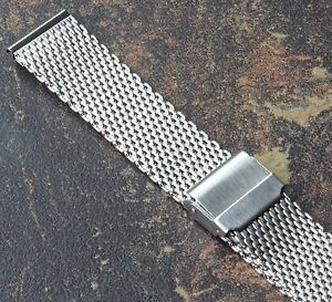 Quality 2.5mm thick mesh band for vintage watch 18mm Stainless Steel no taper