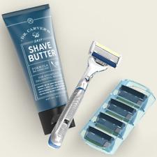 Dollar Shave Club Executive SET Razor Handle + 4 Cartridges 6Blade + Shave Butte