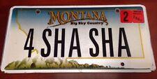 MONTANA vanity 4 SHA SHA license plate Sharon Charlotte Sharon