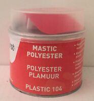 MASTIC SPECIFIQUE  POLYESTER  PLASTIC 1KG +DURCISSEUR