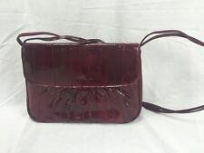 Genuine Eel Skin Burgandy Handbag Purse