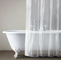 1PC SOLID CLEAR WATERPROOF BATHROOM SHOWER CURTAIN LINER WITH PLASTIC GROMMETS