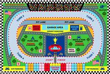 "3x5 Sport Car Rug Speedway Track Race Nascar Lane Road Map USA Ralley 3'3""x4'10"""