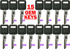 15 NEW GM FACTORY ORIGINAL VATS SINGLE SIDED KEY BLANKS 26019392 Thru 26019406