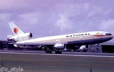 National Airlines DC-10 airplane postcard