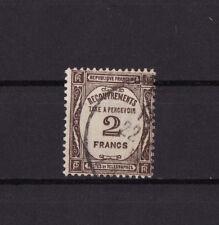 timbre France TAXE    2f   sépia   num: 60   oblitéré