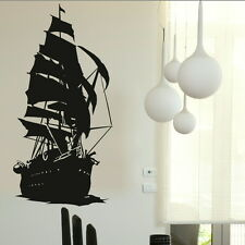Ship Vinyl Art Wall Sticker Decal Transfer Home Graphic Stencil SML/BLK ra136