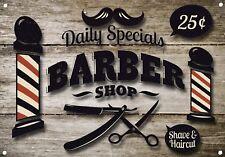 Barber Shop Letrero metal Decor Decoración De Pared Placas 1000
