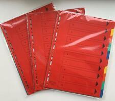3 Kartonregister DIN A 4 10-teilig 2 x 5 Farben Registereinlagen Register Ordner