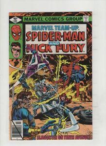 MARVEL TEAM- UP #83 NM-, Spider- Man & Nick Fury & Black Widow, Sal Buscema art