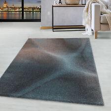 Kurzflor Design Teppich Wohnzimmerteppich Plastische Schatten Muster Blau