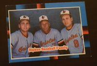 Ripken Baseball Family 1987 Leaf Trading Card Ebay