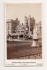 Vintage CDV  Windsor Castle The Garden Terrace G.W. Wilson Photo Aberdeen