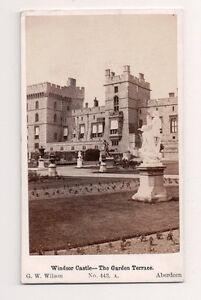 Vintage CDV Windsor Château Le Jardin Terrasse G.W.Wilson Photo Aberdeen
