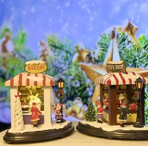 Santa's Toy And Bakery Shops - Christmas Village