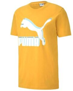NEW WITH TAGS Puma Classics Logo Tee Golden Rod Small Deadstock SM TShirt Yellow