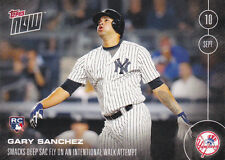 2016 Topps NOW 443 Gary Sanchez 1st Yankees Sac Fly Rookie ONLY 590 Printed RC