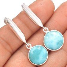 Larimar - Dominican Republic 925 Sterling Silver Earrings Jewelry SE138529