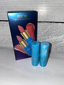 TARTE Color Splash BOXED Cocktail RUM PUNCH + DAIQUIRI Lipstick DUO