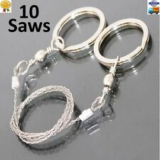 10 Lot Wire Saw Stainless Steel Tool portable survival camping hiking outdoor