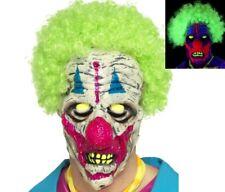 Halloween Disfraz Terror UV Brilla en la oscuridad Zombie Máscara de payaso