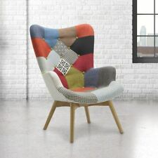 Sloane Vintage Upholstered Medium Sized Armchair Multi Coloured Patchwork Fabric