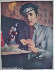1990 Elvis Presley Vintage 1955 Diner Image Motorcycle Cap Drinking Coke
