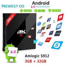 Android 6.0 Amlogic S912 Octa Core  HD Smart tv box H96 Pro+3G/32G Wifi2.4G/5.0