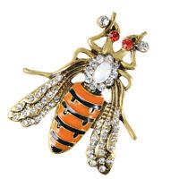 Enamel Rhinestone Beetle Bug Insect Brooch Pin Costume Jewelry Brooch