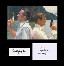 ROGER MOORE & CHRISTOPHER LEE 007 JAMES BOND CAST DOUBLE AUTOGRAPH GOLDEN GUN