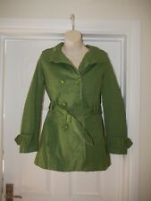 Green Cotton Atmosphere Jacket with Belt