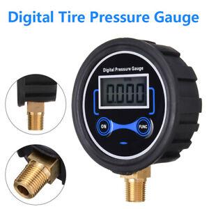 Digitalmanometer Druckprüfer 0-200 psi 1 / 8NPT unten versch. Druckgrenze Tool