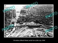 OLD LARGE HISTORIC PHOTO OF PROVIDENCE RHODE ISLAND AERIAL VIEW OF CITY c1940