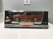 Ertl 1/18 RED 1969 Ford Shelby GT-500 Convertible Mustang American Muscle