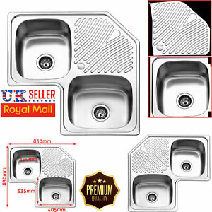 Kitchen Corner Sinks Without Taps For Sale Ebay