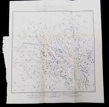 Original 1899 Map Canada and Territory of Alaska Lynn Canal Chilkat Muir Glacier