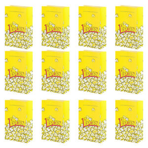 50Pcs Popcorn Bag Food Containers Snack Container Popcorn Holder for Kitchen