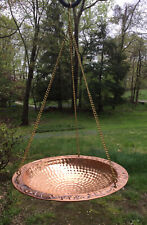 New listing Good Directions Polished Copper Hanging Bird Bath - Bbh