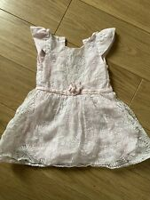 Girls Frendz 2-3 Years Pink Net Dress Party Occasion Pretty Pale Pink