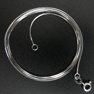 FINE 9 CT WHITE GOLD 45.5 CM CHAIN NECKLACE - 3 GRAMS