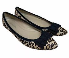ELLEN TRACY SHOES Flats Bow Leopard Fawn Hair SIZE 10