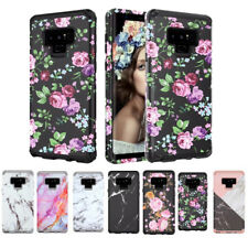 10pcs/lot Marble Flower Dual Layer Hybrid Armor Case for Samsung Galaxy Note9