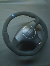 Steering Wheel Audi RS4 B5 ALCANTARA EXTRA PADDING !! STUNING FLAT BOTTOM