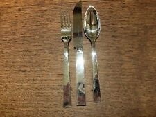 Robbe&Berking 'Riva' Sterling Silver Table KnifeTable Fork&Dessert Spoon