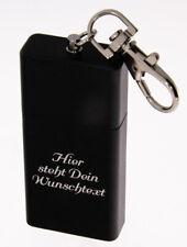 Taschenaschenbecher schwarz Gravur Taschenascher Wunschgravur Schlüsselanhänger