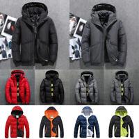 2019 Men's Winter Duck Down Parka Jacket Thicken Hooded Puffer Warm Outwear Coat