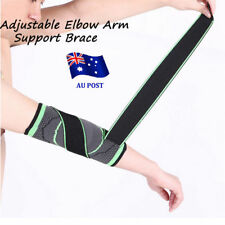 Adjustable Elbow Arm Support Brace Strap Protect Gym Sports Tennis Basketball NW