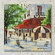 "CAFE berlotti paris céramique photo tuile Brent Heighton 12x12 ""Mur Art 05010"