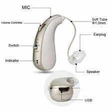 Adjustable Digital RIC Hanging Hearing Aids BTE Severe Loss Ear Aids Amplifier